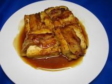 豆腐の肉巻き照り焼き