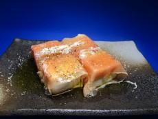 絹ごし豆腐の生ハム巻き