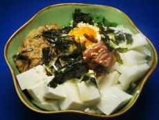 豆腐とネバネバ3種盛丼