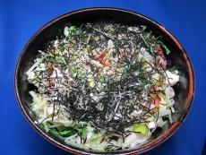 キムチ&みず菜の豆腐どんぶり