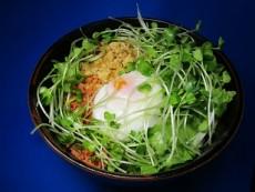 木綿豆腐&紅鮭とレタス&カイワレ丼
