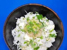 豆腐・アボガド・しらす&大葉おろし丼