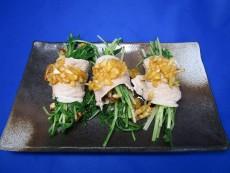 豚しゃぶ水菜&こんがり油揚げ巻き(生活クラブとびきりレシピアレンジ)